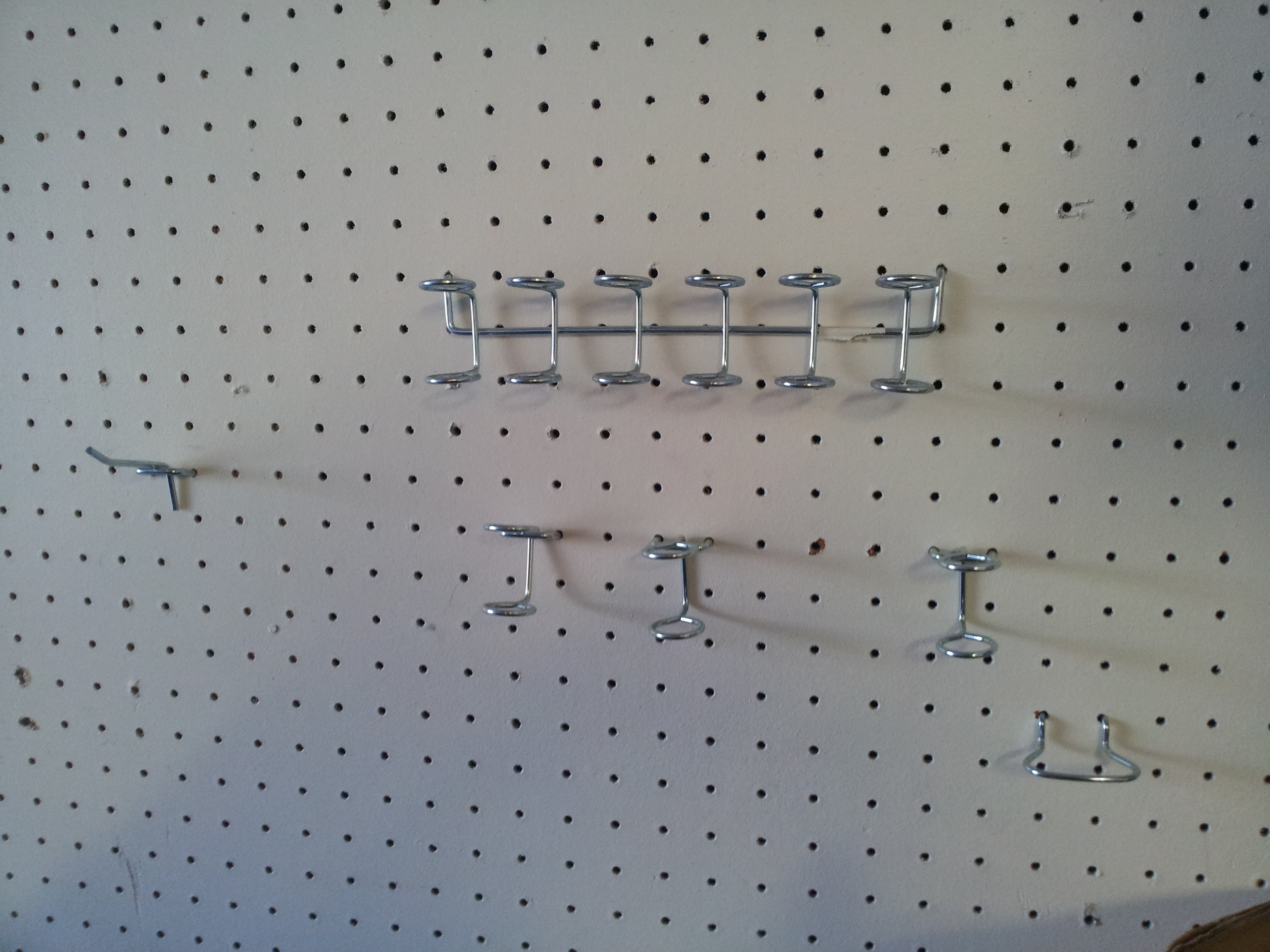 Peg board for organizing your garage