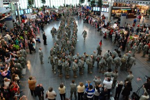 Service Members Leaving for Military Deployment