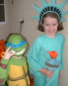 Ninja Turtle Costume Statue of Liberty Halloween Costume