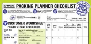 Packing Planner Checklist