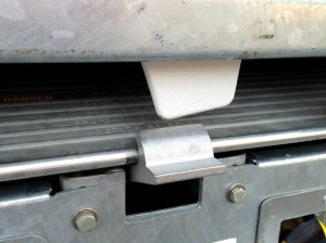 moving truck ramp latch