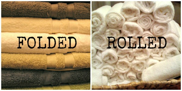 folded OR rolled towels