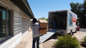 Using a truck ramp to load and unload
