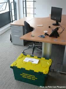 crate at desk