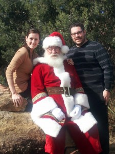 Me visiting Santa Claus last year