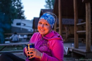 Campfire drinks and snacks