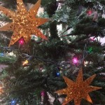 Christmas Tree Ornaments out of Moving Supplies