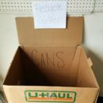 U-Haul Boxes as Recycle Bins