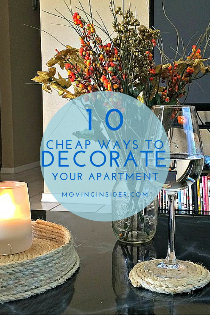 cheap ways to decorate your first apartment