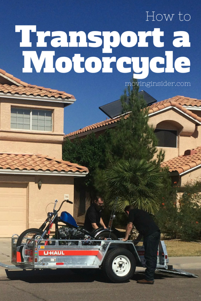 Transporting a motorcycle