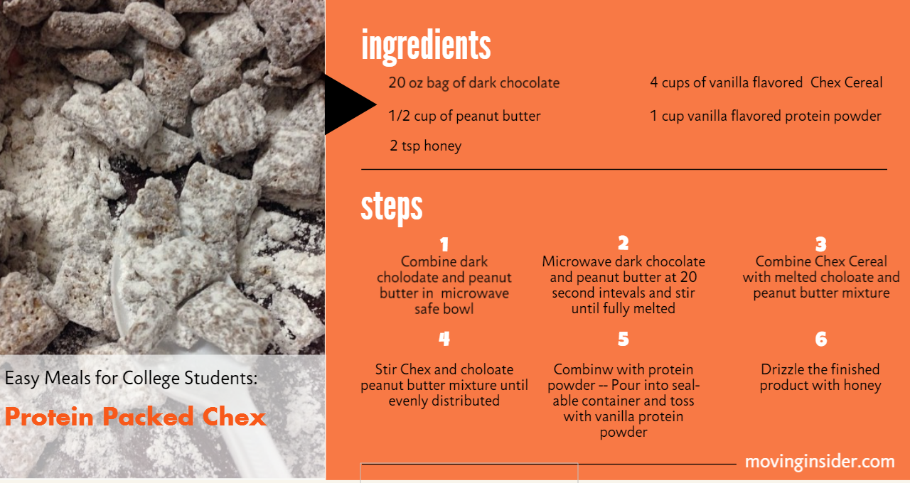 college protein packed chex meals for college students