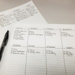 Making a Cleaning Schedule