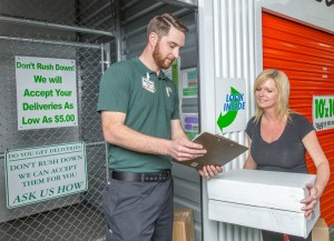 Self-storage facility accept deliveries