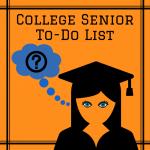 College Senior To-Do List