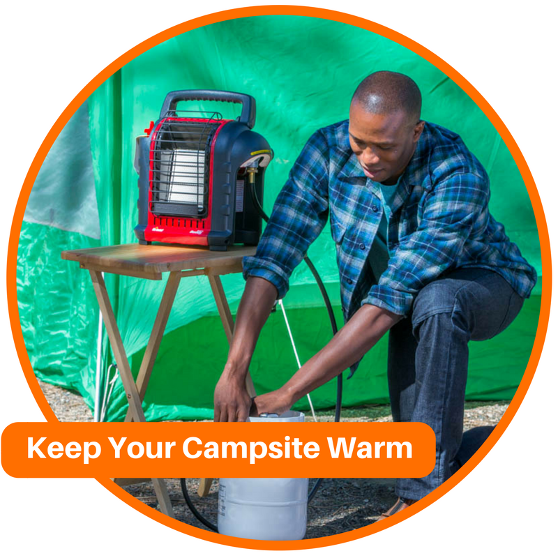 Keep Your Campsite Warm While Cold Weather Camping