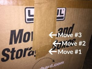 U-Haul moving boxes multiple uses