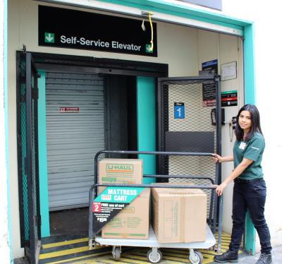 Self-Service Elevator and Loading Carts. U-Haul Storage of Santa Barbara ... & U-Haul: Virtual tour