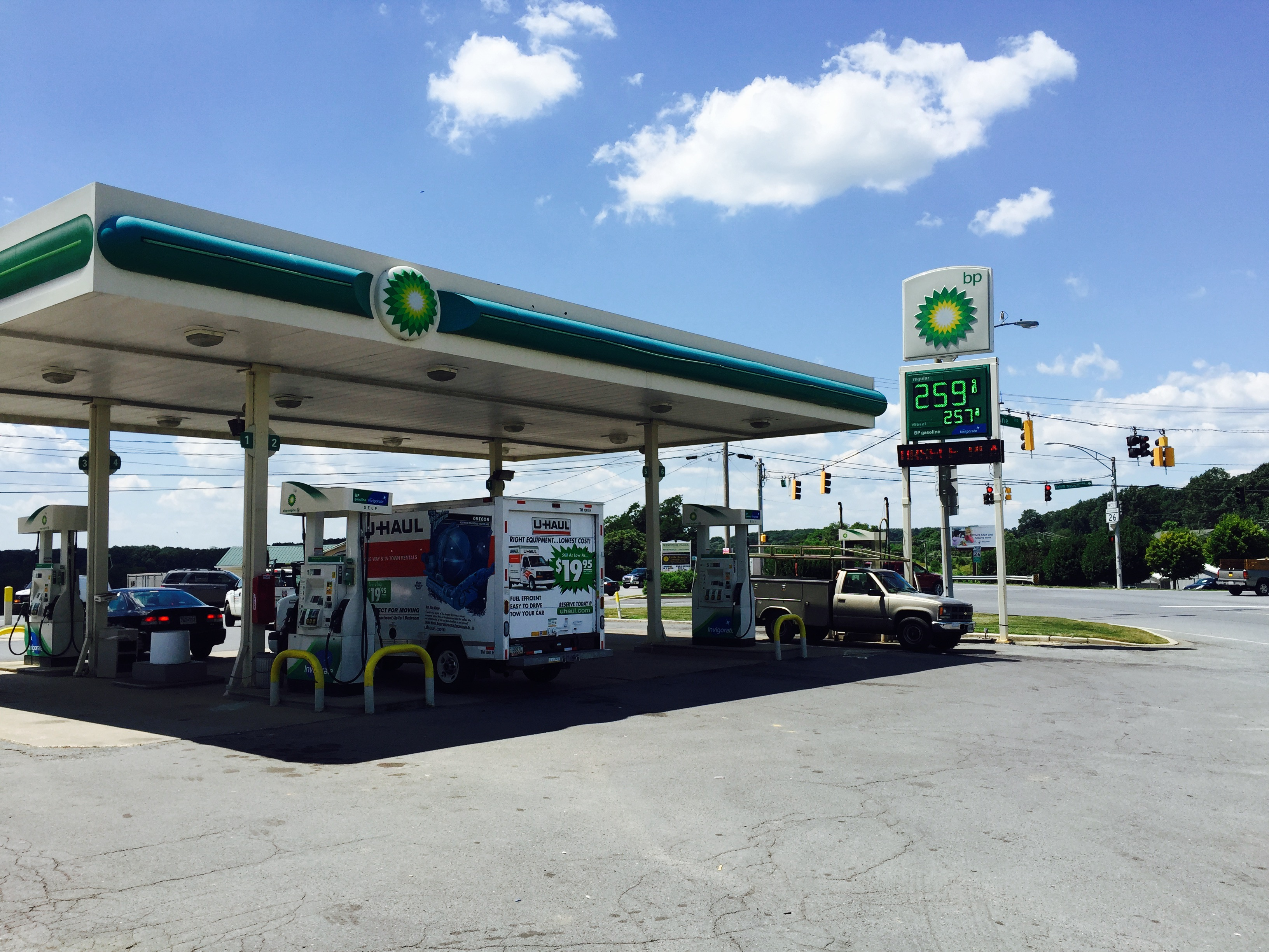 U-Haul: About: U-Haul Partners With Sykesvilles Winfield BP Gas Station