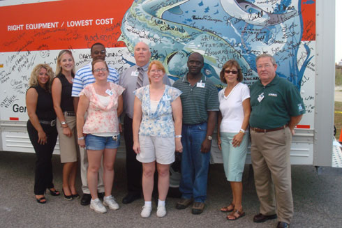 Staff members of U-Haul Media and Public Relations, and the U-Haul Company of Tidewater.