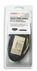 U-Haul: U-Haul 4-Way Flat Piggyback on towing cable, ford focus trailer harness, towing accessories, car towing harness, dodge ignition wire harness, towing light harness, towing wiring connectors, towing stone guards,