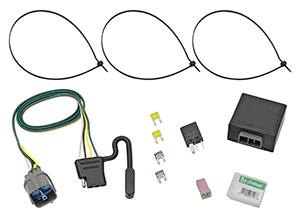 CQT118491-4-Flat-Factory-Style-Vehicle-Tow-Harness-Converter  Wire Tow Harness on