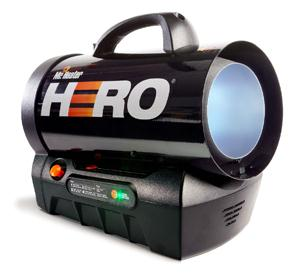 Forced Air Propane Heater >> Hero Cordless Forced Air Propane Heater