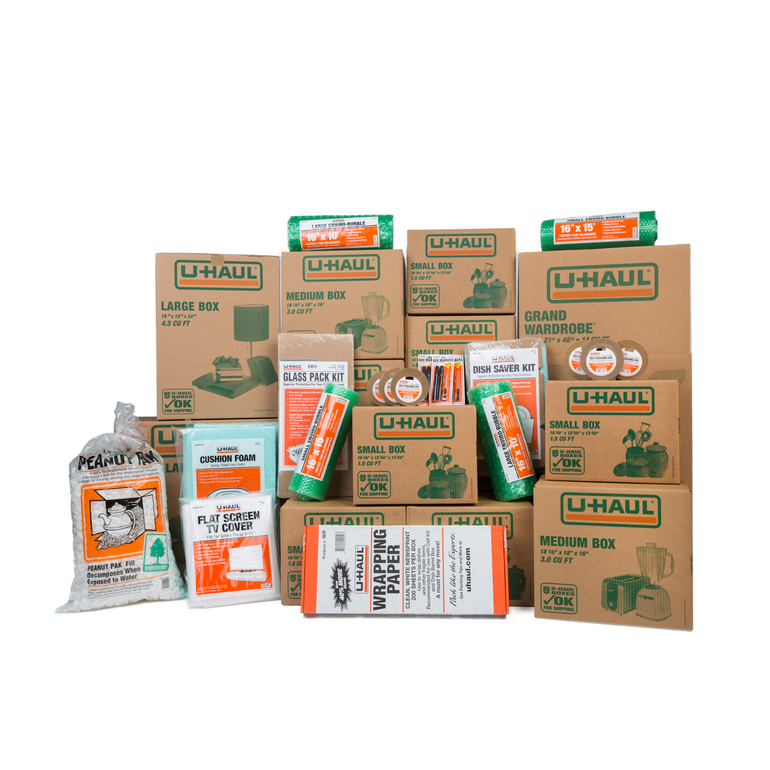 Wardrobe Boxes Uhaul: U-Haul: Moving Supplies: 4+ Bedroom Master Pak® Moving Kit