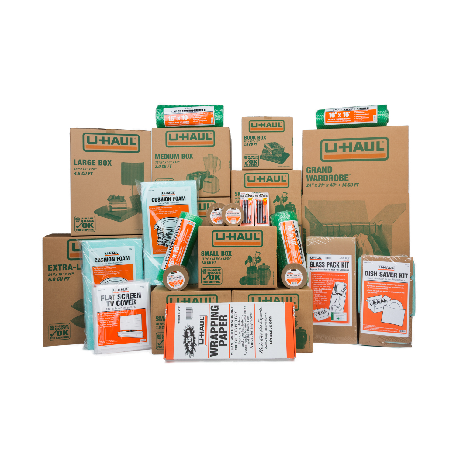 Wardrobe Boxes Uhaul: U-Haul: Moving Supplies: 3-4 Bedroom Household Kit®