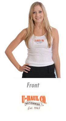 U Haul U Haul Womens White Tank Top