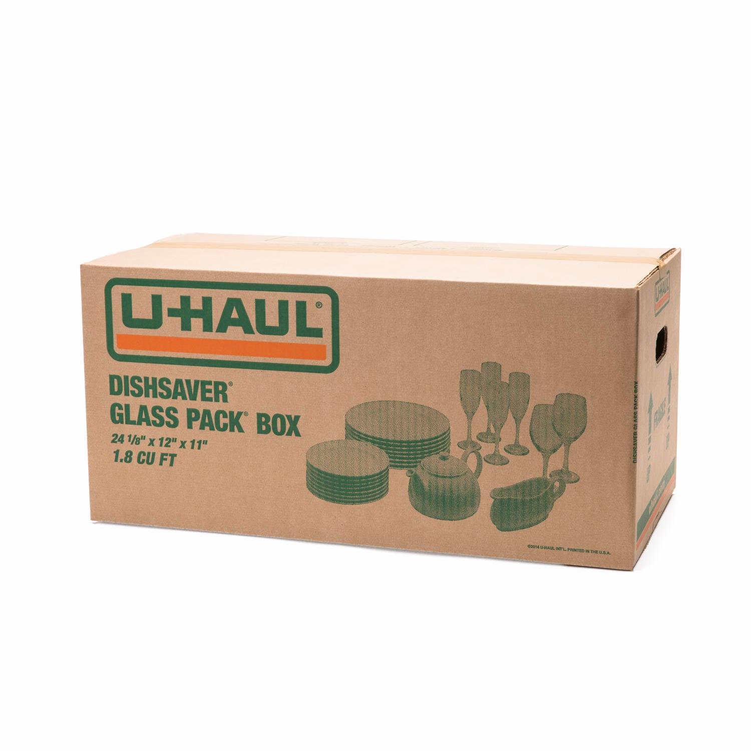 Wardrobe Boxes Uhaul: U-Haul: Dishsaver Glass Pack Box