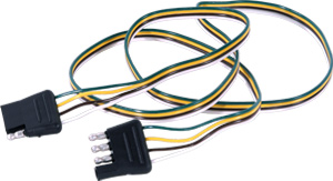 U-Haul: 4 Way Flat Wiring - Car and Trailer Ends on towing cable, ford focus trailer harness, towing accessories, car towing harness, dodge ignition wire harness, towing light harness, towing wiring connectors, towing stone guards,