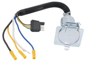 U-Haul: Quick-Connect Trailer-Wiring Harness 7-Way Adapter Metal
