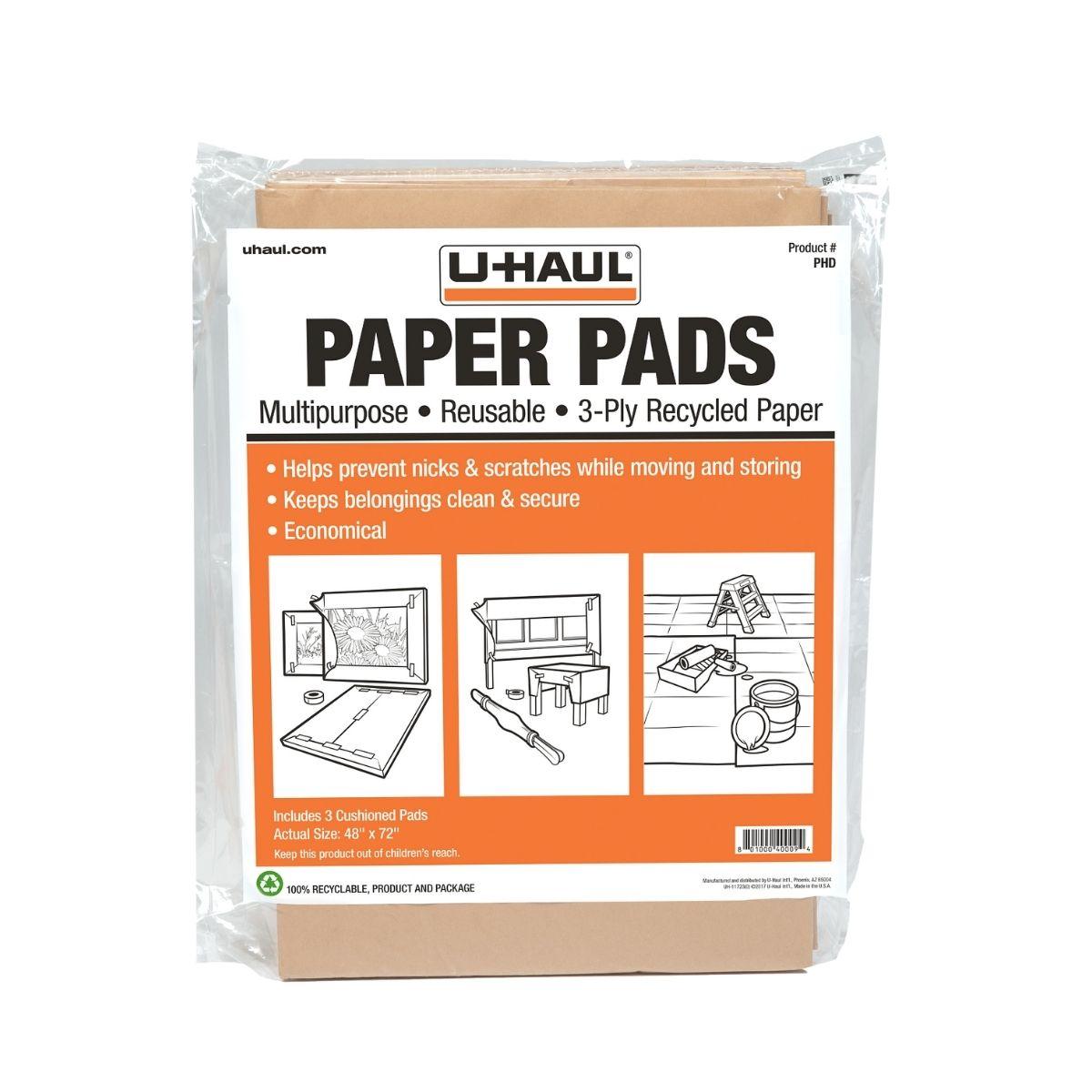 U Haul Moving Supplies Paper Pads