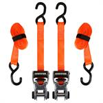 SmartStraps 10' RatchetX Ratchet TieDowns  Pack of 2 (Orange)  3,000 lb Breaking Strength