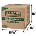 "HeavyDuty Medium Moving Box  DoubleWalled  181/8"" x 18"" x 16"""