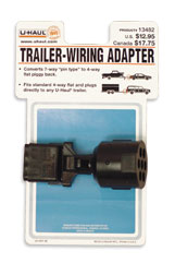 U Haul Moving Supplies 7 Way Quot Pin Type Quot Trailer Wiring