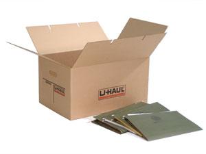 u haul moving supplies legal tote box. Black Bedroom Furniture Sets. Home Design Ideas