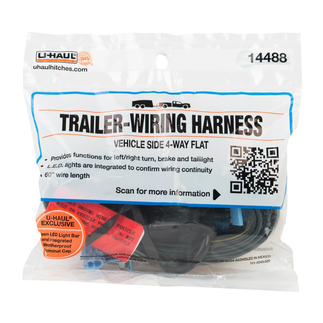 "U-Haul: U-Haul 4-Flat Vehicle End Plug (60"" Lead) on u haul trailer connector, u haul trailer dimensions, u haul wiring harness, u haul trailer lights,"