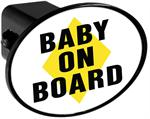 Hitch Receiver Cover  Baby on Board