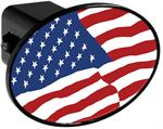Hitch Receiver Cover  American Flag