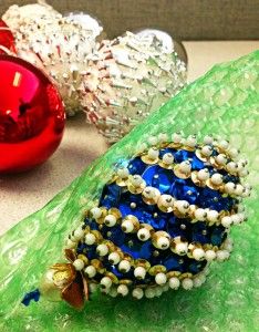 Holiday ornament bubble wrap