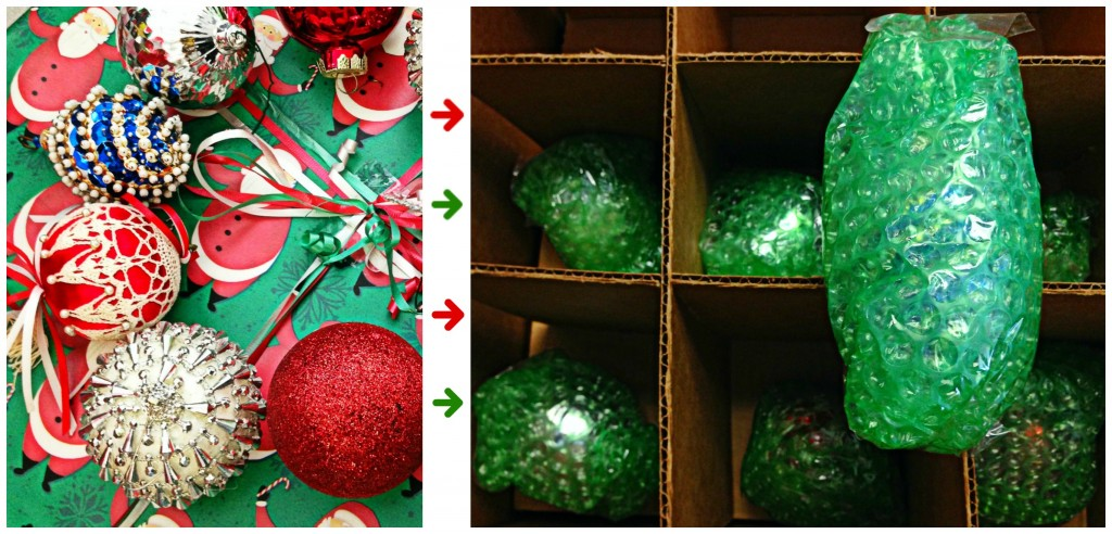 Safely pack ornaments