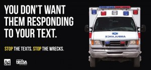 distracted driving, distracted driving resources, NHTSA, Ad Council, stop the texts, stop the wrecks